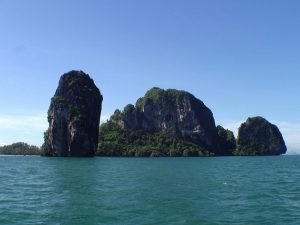 poda island approaching from ao nang