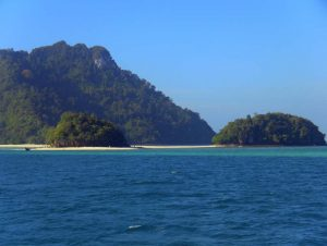 blue sky blue seas green islands and golden sand beaches in krabi