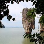 Koh Tapu or James Bond Island limestone karst in Phang Nga Bay