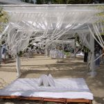 decorated beach sala