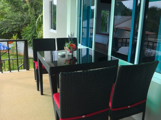 photo - seating area on balcony