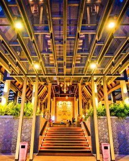 The entrance to Deevana Plaza Resort reception in Krabi