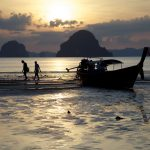 photo of sunset at khlong muang beach krabi
