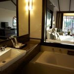 photo of suite bathroom and bedroom with terrace