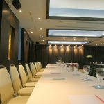 photo of conference room set for a meeting