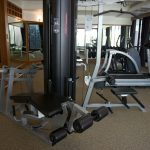 Photo of gym and fitness machines in luxury resort