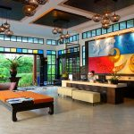 Photo of modern-thai style art and furniture in boutique resort
