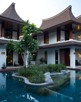 Photo of moder-Thai style villa buildings at Krabi resort