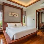 photo of bed in Thai style villa