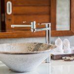 photo of modern style bathroom handbasin in luxury villa Ao Nang