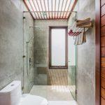 photo of luxury bathroom in contemporary Thai holiday villa