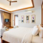 photo of king size bed TV and lounge in modern holiday villa Ao Nang