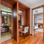 photo of dressing room and bathroom in contemporary Thai villa