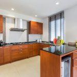 photo of built-in kitchen area of moder luxury villa