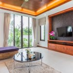 photo of living area with large format TV in villa Ao Nang Krabi