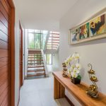 photo of entrance way and staircase in modern villa Southern Thailand