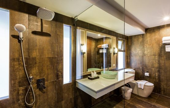 photo of large modern bathroom in thai style villa ao nang krabi