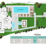 floorplan image of villa and bungalow for holiday let in Ao Nang, Krabi, Thailand.
