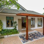 photo of entrance to garden villa for rent in thailand