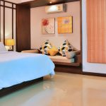 photo of king size bed in furnished bedroom in holiday villa Ao Nang