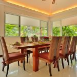 photo of dining table and chairs in luxury pool villa in Krabi