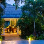 photo of tropical gardens at luxury holiday villa for rent