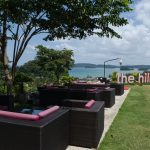 picture of garden seating at the hilltop bar ao nang