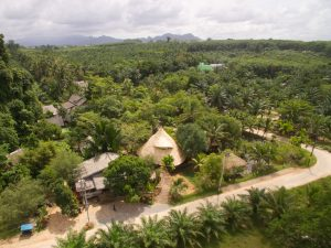 aerial view of ruean mai restaurant near krabi town