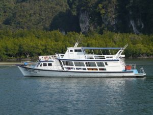 large boats for charter in krabi celebrations and cruising