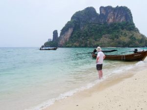 the beach and views at phak bia island
