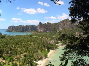view over railay peninsular beaches railay east and railay west