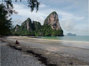 the beach of railay bay west